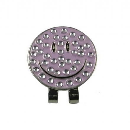 Crystal Smiley face hat clip - Hole In One Golf Accessories ... 51041bb60605